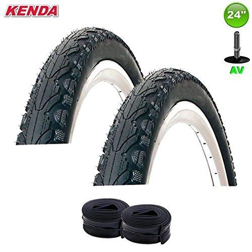 2 x Kenda K-935 Giacca Moto Coperchio Cappotto 24 x 1.75, 47-507 + Tubo Flessibile Av