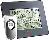 FreeTec Wetter-Stationen: Mobile Funk-Wetterstation mit Funk-Uhr & digitalem Außensensor (Wetterstation mit Vorhersage)