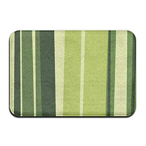 Home Fußmatte grün gestreift Fußmatten Outdoor Matten Eingangsmatte Fußmatte -