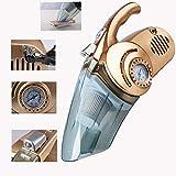 Aspirapolvere per Auto Portatile, DC12V 96W Ad Alta Potenza per Illuminazione Gonfiabile Portatile 3000Pa Aspirapolvere per Auto Bagnato e Secco Dual-Use