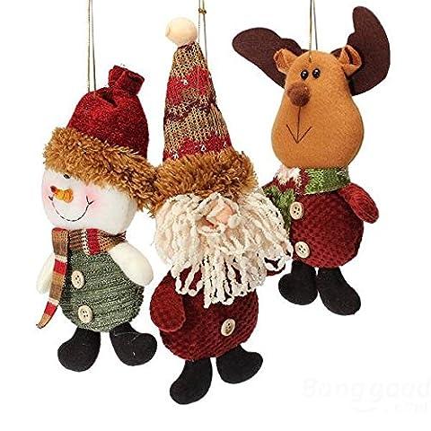 mark8shop Weihnachten Santa Rentier Schneemann Anhänger Xmas Tree Ornament Dekoration
