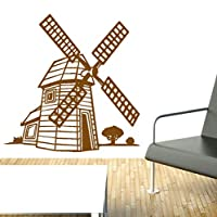 Windmill Wall Sticker Decal Knights Dragons Kids Nursery Fantasy Wall Vinyl Decor Art Living Room Bedroom 57X57Cm