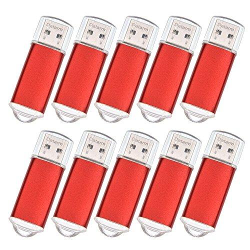 10 Packung USB Sticks 512MB Billig USB 2.0 Flash Drive - Billig Kleine Kapazität Mini USB Flash Laufwerk - Rot Externe Geräte Datenspeicher Pack Memory Sticks für Werbung by Datarm