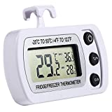 NexGadget Termómetro de Frigorífico Mini Digital Preciso LCD Refrigerador Monitor de Temperatura Máximo y Mínimo