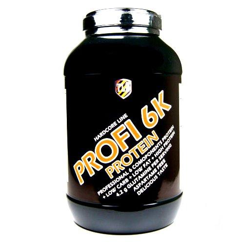 TLN Profi 6K Protein Powder - 3000 g (3 kg) Fraise goût, Strawberry flavoured, 6 Composants protéines en poudre, protéine fruit milkshake, acide aminé, soja blé lactalbumine œuf lactosérum clamart