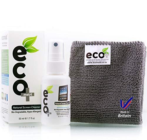 Ecomoist Pulizia dello schermo (50ML) + Asciugamano Microfibra (20x20CM), Prodotto naturale