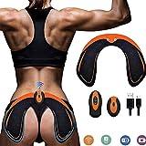 ZHENROG Hips Electrostimulateur Musculaire Hanches Trainer,Appareil de Fesse Intelligent,Electrostimulateur fessier,Télécommande Rechargeable pour Gym Workout Équipement pour Femmes Hommes