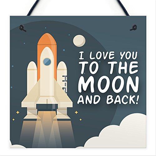 Rot Ocean Neuheit BFF Love You To The Moon & Back Hängeschild Freundschaft Damen Geschenk Zubehör