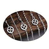 Epinki 925 Sterling Silber Unisex Halskette Rund Kette Adler Anhänger Buddhismus Herrenhalskette 5mm