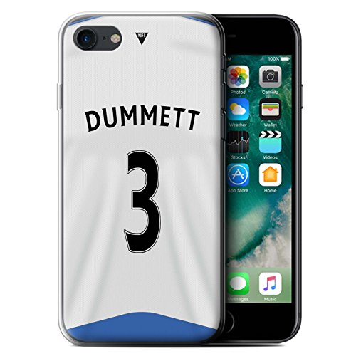 Offiziell Newcastle United FC Hülle / Gel TPU Case für Apple iPhone 7 / Shelvey Muster / NUFC Trikot Home 15/16 Kollektion Dummett