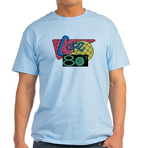 CafePress - Cafe 80?s ? Back to the Future T-Shirt - Unisex Crew Neck 100% Cotton T-Shirt, Comfortable & Soft Classic Tee with Unique Design