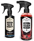 Auto Reiniger SPARSET | Premium Auto Innenreiniger (500ml) + Felgenreiniger für verchromte & Matte Felgen (1000ml) | Auto Innenraum Reiniger & Felgenpflege für Alu- und Stahlfelgen von URBAN Forest