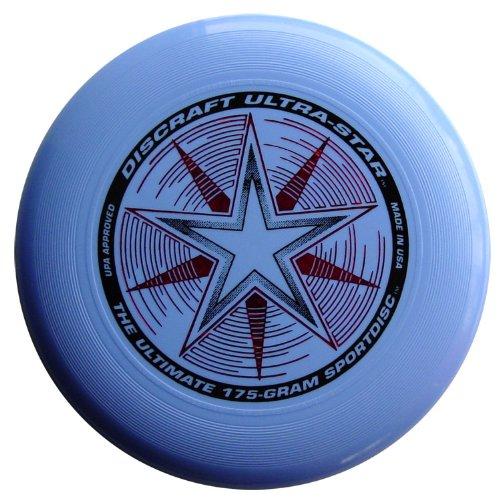 Discraft Ultra-Stars Ultimate Frisbee 175 Gram Sportdiscs-Light Blue