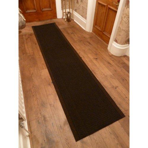 47 Sizes Available - Aztec Dark Brown - Sisal Style Carpet Runner Rug Door Mat - Any Length Runners for Hall, Hallways, Passage, Corridor, Kitchen, Caravans