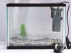 Starter aquarium small fish tank complete with filter for Amazon fish tank filter