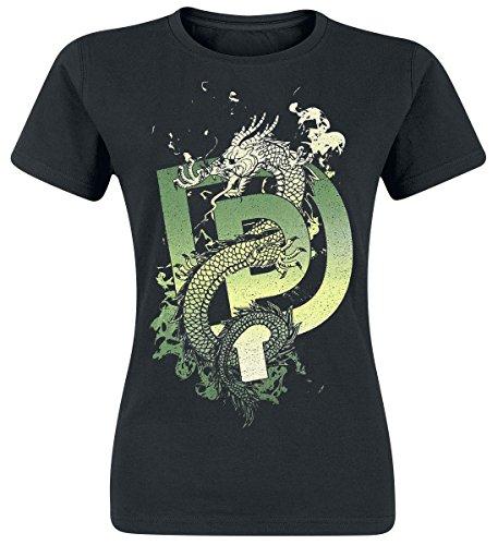 Deep Purple Dragon Camiseta Mujer Negro S