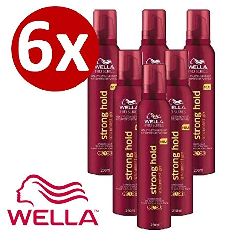 Wella ProSeries Schaumfestiger Stronghold & 6er Pack (6 x 250ml)