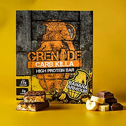 Grenade Carb Killa High Protein and Low Carb Bar, 12 x 60 g - A Selection Box 6