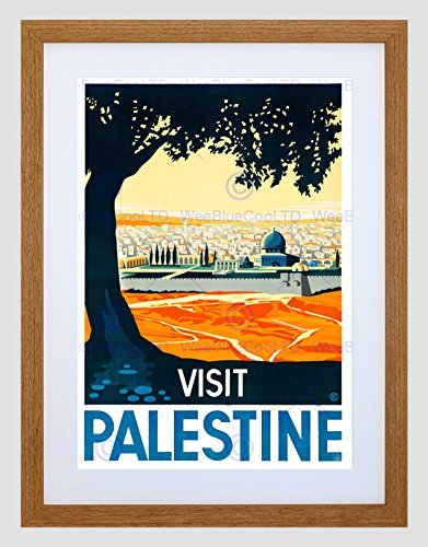 TRAVEL PALESTINE MOSQUE CITY WALL HOLY LAND TREE FRAMED ART PRINT MOUNT B12X6498 (Tree Mount)