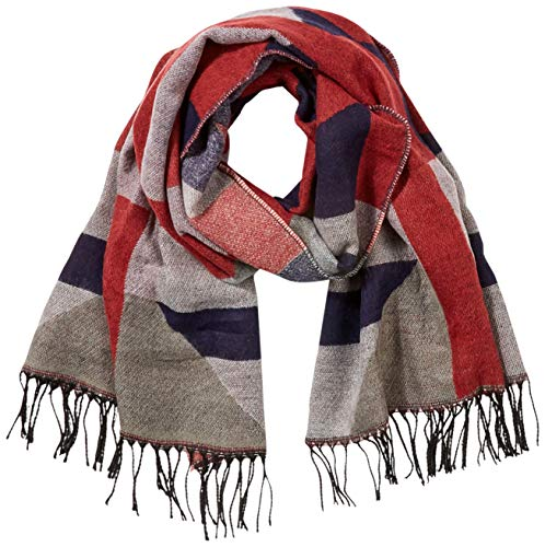 PIECES Damen PCDASTE LONG SCARF NOOS Schal, Mehrfarbig Cranberry, One Size