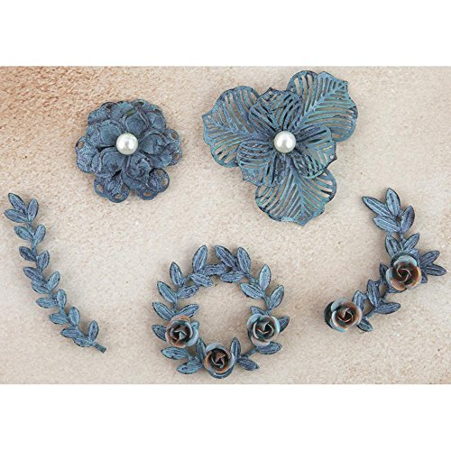 Prima Marketing Metall Patina Trinkets Blumen & Ranken 584924