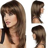 Hochtemperatur-Draht Perücke, die tägliche Leben und die Aktivitäten der Parteien, Art und Weise braun glattes Haar, 0