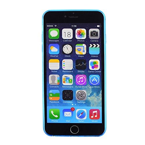 Iphone 6 // 0,2mm dünne Silikon SchutzHülle Silikonhülle Slim Hülle in Blau @ Energmix Blau