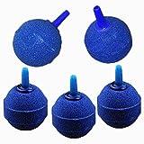 BlueMoo 5 PCS 1Inch Round Ball Air Bubble Stones Aerator for Pond or Aquarium Fish Tank Pump