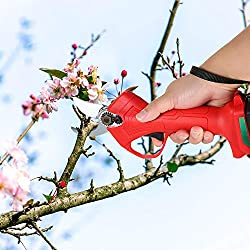 KKmoon Élagage au lithium rechargeable électrique sans fil Cisailles Sécateur Branch Cutter Outil de taille de fruits électrique Élagueur de jardin électrique