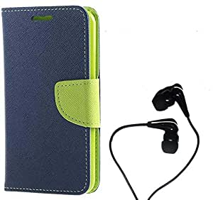 Wallet Flip Cover With Earphone(3.5 mm) For Micromax Canvas HD A116