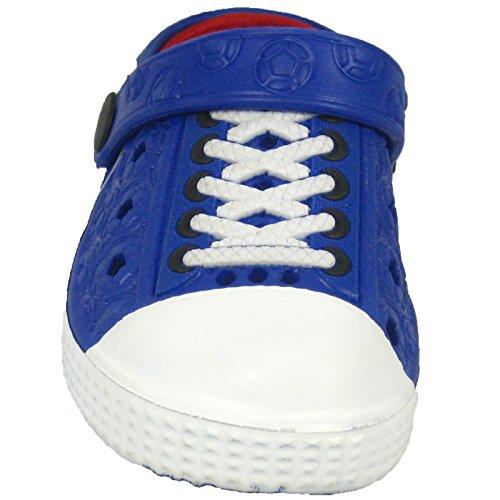 Sleedy® Bambini Zoccoli invernali EVA Clog rivestito in diverse dimensioni unisex pantofole Navy