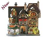 Lemax 85315 - River Moors Christmas Street Festival - NEU 2018 - Caddington Village Facades - Beleuchtete Fassade - Weihnachtswelt/Weihnachtsdorf