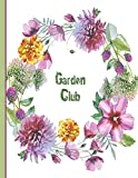 Committee Meeting Minutes Book 2019: Flower Garden design - Calendar Monthly Activity Planner for Club Office Bearers (Club Calendars for Meeting Minutes Log & Notes, Band 2019)
