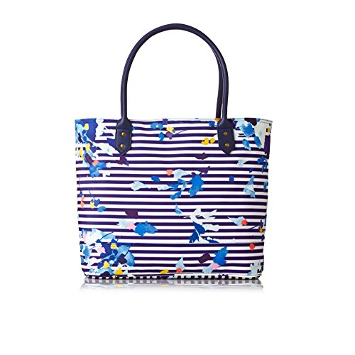 Borsa Shopper Tela Stampata Di Joules Cariwell (w) Multi Floral Stripe