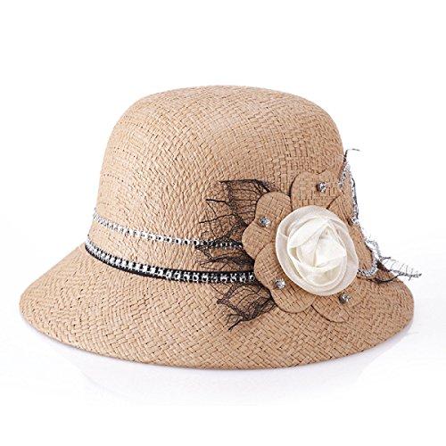2017 Printemps Et Eté De Nouvelles Mesdames Chapeau De Mode De Lin Chapeau De Soleil Chapeau De Femmes Chapeau De Dames Chapeau De Couleur Camel
