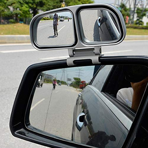FIOLTY 1Pc Originale Blind Spot Specchio Quadrato Auto Abbiamo Angle Se Rear View Mirror Universal Car Doppio Specchio Convesso: Bianco Sinistra