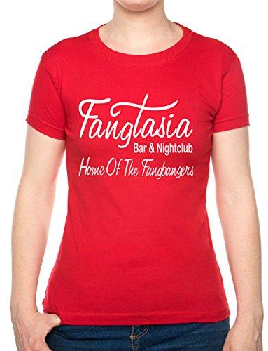 Print4U True Blood Fangtasia T-Shirt für Erwachsene, in 6 Farben erhältlich, Damen Skinny & Unisex, Größe S, XX-Large -
