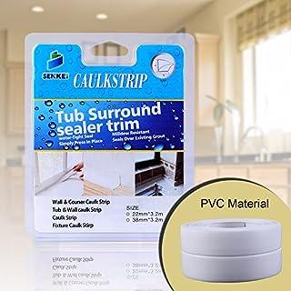 Caulk Strip, Oumers PVC Strong Self Adhesive 1-1/2
