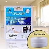 Oumers Weiß Badezimmer Tape,Wasserdicht Mehltau Selbstklebend Wand dichtungsband für Badewanne & Küche