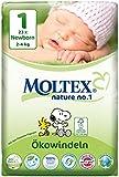 MOLTEX Nature no.1 Ökowindel Newborn, 23 Stück