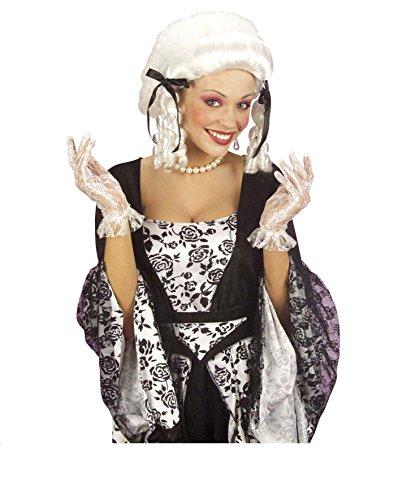 1 Paar Handschuhe - Spitze - weiß, Rokoko Hofdame