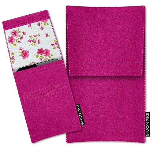 SIMON PIKE Apple iPhone 7 / 6 / 6S Filztasche Case Hülle Sidney in pink 14, passgenau maßgefertigte Filz Schutzhülle aus echtem Natur Wollfilz, dünne Tasche im schlanken Slim Fit Design für das iPhone 7 / 6 / 6S