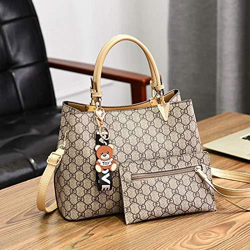 YZJLQML Damen Tasche damenbekleidungeinfache Casual Damen umhängetasche große kapazität Eimer Tasche Handtasche @beige_with_Gold