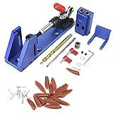 Bohrerführung für die Holzbearbeitung, Lochlehre für das Holzbearbeitungswerkzeug mit Schnellspanner und Stufenbohrer