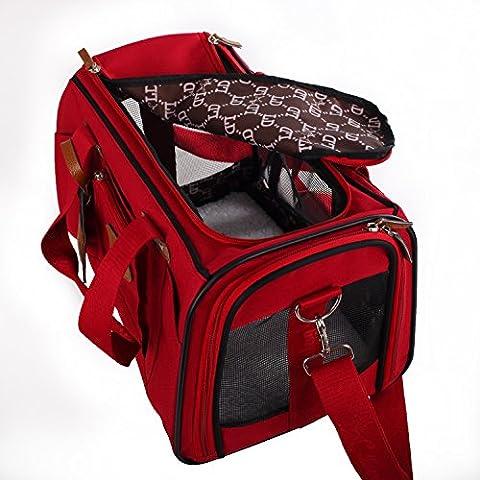 Rot Weiche Seiten Pet Carrier Fluggesellschaften zugelassen Pet Travel Tragbare Tasche für Hunde Katzen und (Hund Pet Carrier)