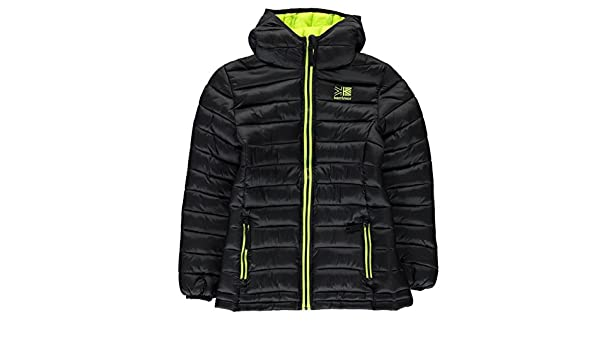 f471f1e40 Karrimor Kids Hot Crag Insulated Jacket Junior Down Coat Top Long Sleeve  Chin Black UK 11-12 (LB)