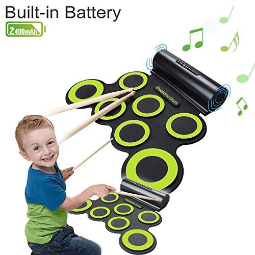 drum-kit-coastacloud-portatile-batteria-elettronica-con-costruito-in-altoparlantecon-bastonidrum-pad