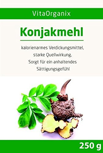 Konjakmehl Konjakwurzel getrocknet, gemahlen (Amorphophallus konjac, Teufelszunge), 250g hohe...