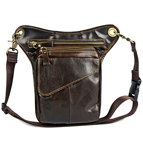 Honsin Vintage Leather Drop Leg Bag Outdoor Thigh Waist Hip Fanny Pack for Men Women
