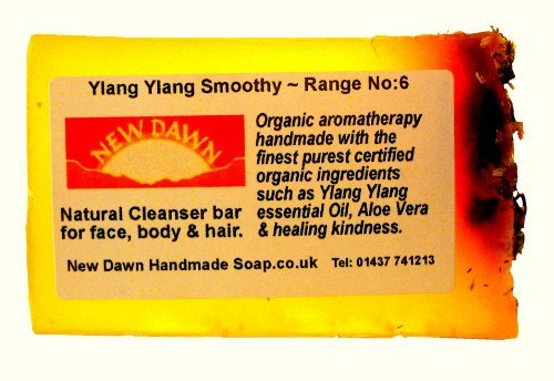 Handmade Natural Ylang Ylang Soap Bar - Range No.6 - Dry and T Zone Skin Relief / Moisturizer - 35g - Sample / Travel Size